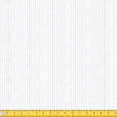 Tecido Tricoline Coleção Arrow - Branco c/ Branco - 100% Algodão - Largura: 1,50m