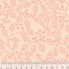 Tecido Tricoline Coleção Composê Ideal Linen - Ramos - 100% Algodão - Largura 1,50m