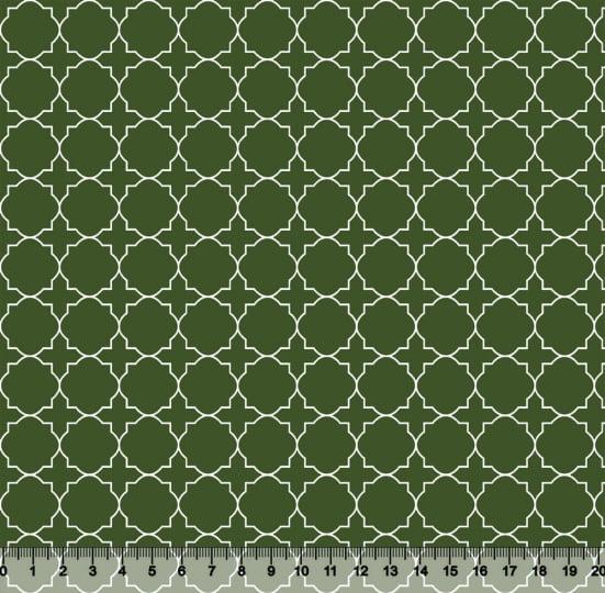 Tecido Tricoline Coleção Composê Ideal Verde Amazônia - Mural - 100% Algodão - Largura 1,50m