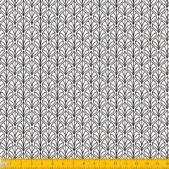 Tecido Tricoline Coleção Leaf - Branco - 100% Algodão - Largura: 1,50m
