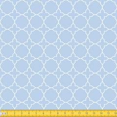 Tecido Tricoline Coleção Mural - Azul Claro - 100% Algodão - Largura: 1,50m