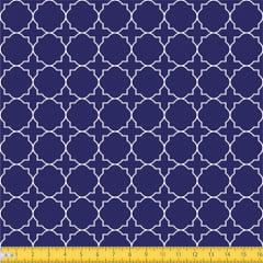 Tecido Tricoline Coleção Mural - Azul Marinho - 100% Algodão - Largura: 1,50m