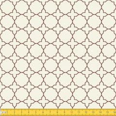 Tecido Tricoline Coleção Mural - Bege c/ Marrom - 100% Algodão - Largura: 1,50m