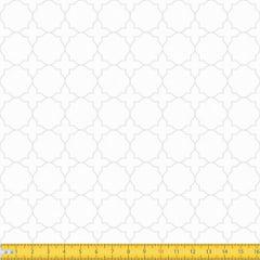 Tecido Tricoline Coleção Mural - Branco c/ Branco - 100% Algodão - Largura: 1,50m
