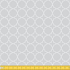 Tecido Tricoline Coleção Mural - Cinza - 100% Algodão - Largura: 1,50m