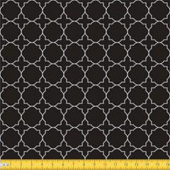 Tecido Tricoline Coleção Mural - Preto - 100% Algodão - Largura: 1,50m