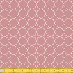 Tecido Tricoline Coleção Mural - Rosa Chá - 100% Algodão - Largura: 1,50m