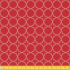 Tecido Tricoline Coleção Mural - Vermelho - 100% Algodão - Largura: 1,50m