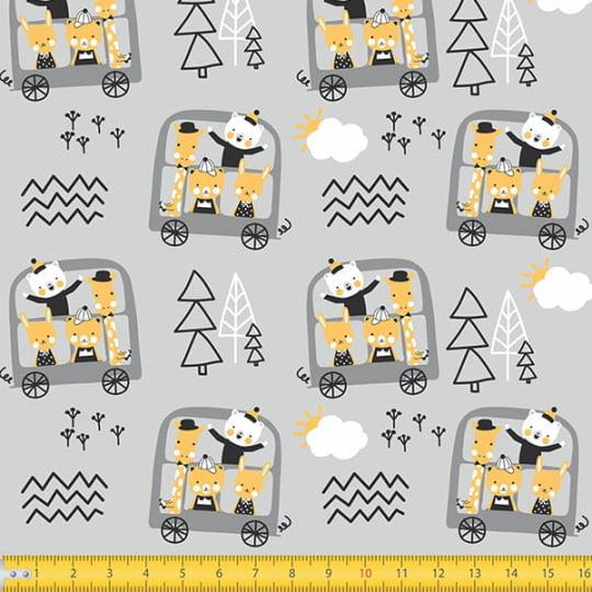 Tecido Tricoline Coleção Teepee Kids - Carrinho da Alegria - 100% Algodão - Largura 1,50m