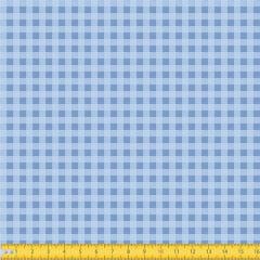Tecido Tricoline Coleção Xadrez Chess - Azul Claro - 100% Algodão - Largura: 1,50m