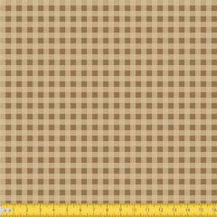Tecido Tricoline Coleção Xadrez Chess - Bege - 100% Algodão - Largura: 1,50m