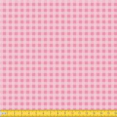 Tecido Tricoline Coleção Xadrez Chess - Rosa Claro - 100% Algodão - Largura: 1,50m
