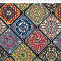 Tecido Tricoline Especial Mandalas e Molduras - 100% Algodão - Largura 1,50m