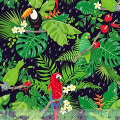 Tecido Tricoline Especial Tropical Rain - 100% Algodão - Largura 1,50m