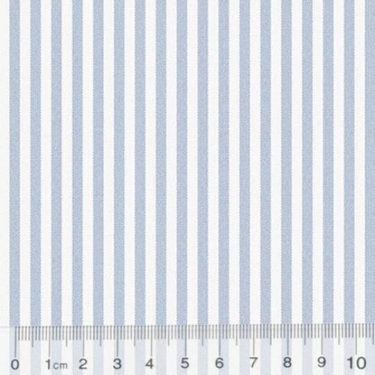 Tecido Tricoline Fio-Tinto Listras M - Azul Claro - 100% Algodão - Largura 1,50m