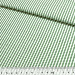 Tecido Tricoline Fio-Tinto Listras M - Verde Bandeira - 100% Algodão - Largura 1,50m