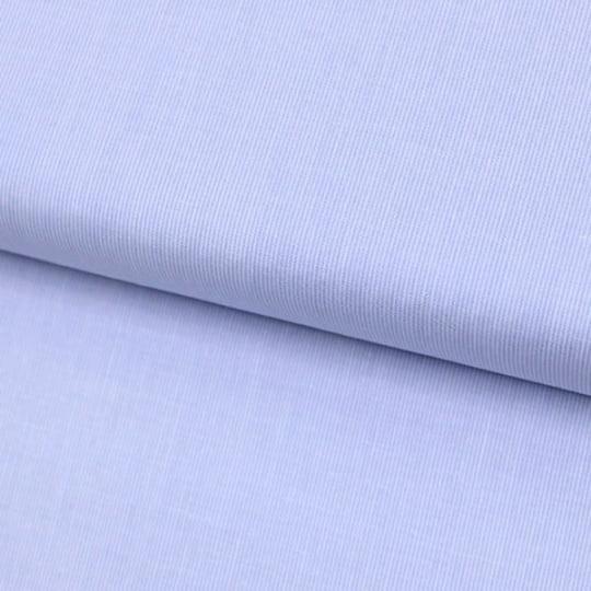 Tecido Tricoline Fio-Tinto Listras PP - Azul Claro - 100% Algodão - Largura 1,50m