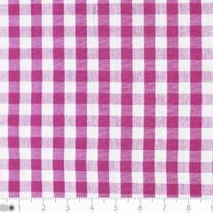 Tecido Tricoline Fio-Tinto Vichy Xadrez G - Rosa Pink - 100% Algodão - Largura 1,50m