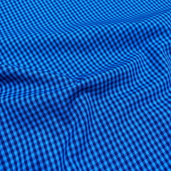 Tecido Tricoline Fio-Tinto Vichy Xadrez M Dual Color - Anil - 100% Algodão - Largura 1,50m