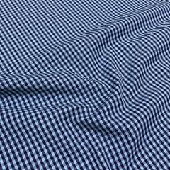 Tecido Tricoline Fio-Tinto Vichy Xadrez M Dual Color - Azul Leve - 100% Algodão - Largura 1,50m