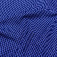 Tecido Tricoline Fio-Tinto Vichy Xadrez M Dual Color - Noite - 100% Algodão - Largura 1,50m