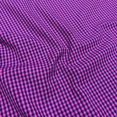 Tecido Tricoline Fio-Tinto Vichy Xadrez M Dual Color - Pink - 100% Algodão - Largura 1,50m