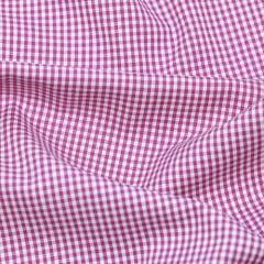 Tecido Tricoline Fio-Tinto Vichy Xadrez P - Rosa Pink - 100% Algodão - Largura 1,50m