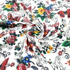 Tecido Tricoline Color RB Zamora - 100% Algodão - Largura 1,50m