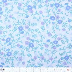 Tecido Tricoline Floral Liberty Mini - Miracle Garden - 100% Algodão - Largura: 1,50m