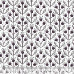 Tecido Tricoline Floral Ornamento