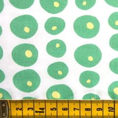 Tecido Tricoline FM Cell Forms - Verde - 100% Algodão - Largura 1,50m