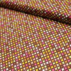 Tecido Tricoline FM Mini Mosaico Colorido - 100% Algodão - Largura 1,50m