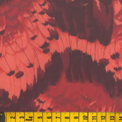 Tecido Tricoline FM Textura In Red - 100% Algodão - Largura 1,50m