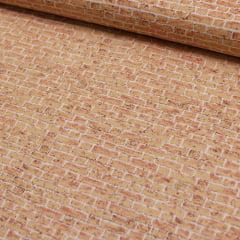 Tecido Tricoline FM Textura Tijolos - Claro - 100% Algodão - Largura 1,50m