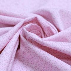 Tecido Tricoline Light Voil Fio 50 - Liberty Florzinha Rosa - 100% Algodão - Largura 1,50m