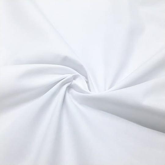 Tecido Tricoline Mista Lisa - Branco - 65% Poliéster 35% Algodão - Largura 1,50m