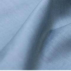 Tecido Tricoline Mista Lisa - Cinza Brisk - 65% Poliéster 35% Algodão - Largura 1,50m