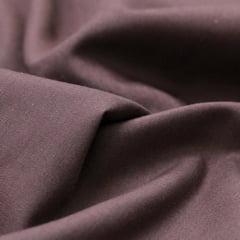 Tecido Tricoline Mista Lisa - Marrom - 65% Poliéster 35% Algodão - Largura 1,50m