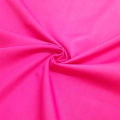 Tecido Tricoline Mista Lisa - Rosa Pink - 65% Poliéster 35% Algodão - Largura 1,50m