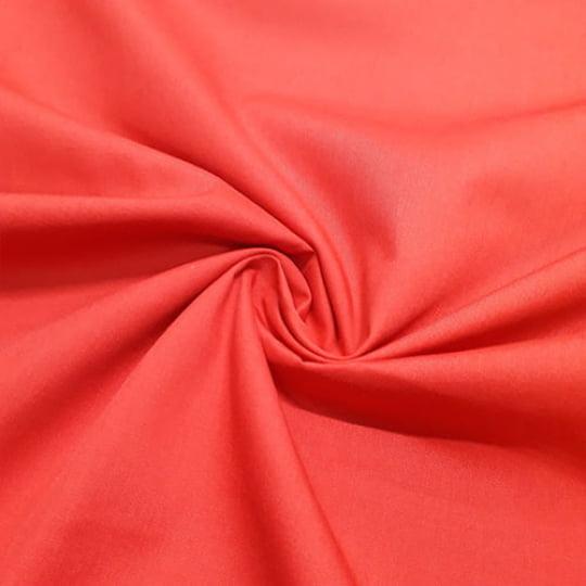 Tecido Tricoline Mista Lisa - Vermelho Ferrari - 65% Poliéster 35% Algodão - Largura 1,50m