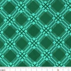 Tecido Tricoline Mista Natal Madras - Verde - 90% Algodão 10% Poliéster - Largura 1,50m