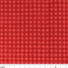 Tecido Tricoline Mista Natal Xadrez - Vermelho - 90% Algodão 10% Poliéster - Largura 1,50m