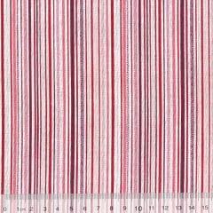 Tecido Tricoline Mista Pop Textoleen Listras Coloridas - Rosa - 50% Algodão 50% Poliéster - Largura 1,38m