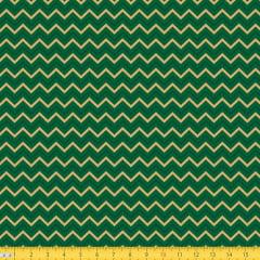 Tecido Tricoline Natal Chevron - Verde - 100% Algodão - Largura: 1,50m