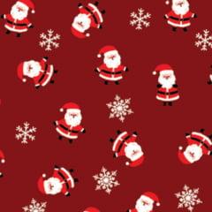 Tecido Tricoline Natal Design - Pequeno Papai Noel - Vermelho - 100% Algodão - Largura: 1,50m
