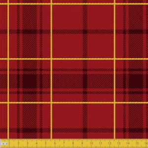 Tecido Tricoline Natal - Xadrez Madras - Vermelho - 100% Algodão - Largura: 1,50m