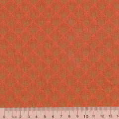Tecido Tricoline Orange Square