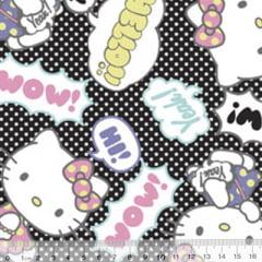 Tecido Tricoline Personagens F. Maluhy - Hello Kitty Wow - 100% Algodão - Largura 1,50m