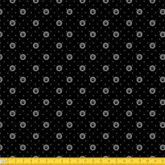 Tecido Tricoline Pet Petit Poá - Preto - 100% Algodão - Largura: 1,50m