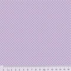 Tecido Tricoline Poá P - Fundo Lilás Tons - 100% Algodão - Largura 1,50m